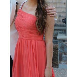One Shoulder Calvin Klein Gown